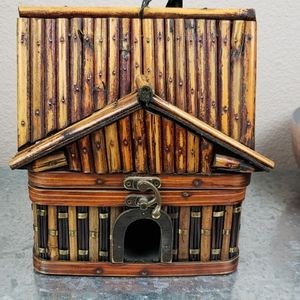 Vintage bamboo wooden house asian home decor